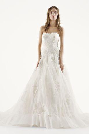 White By Vera Wang Chantilly Lace Wedding Dress
