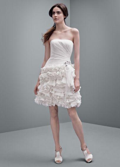 White by Vera Wang Short Chiffon Wedding Dress | David's Bridal