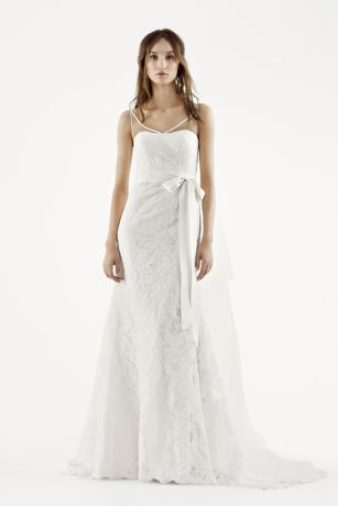 White by Vera Wang Illusion Tank Wedding Dress Davids Bridal