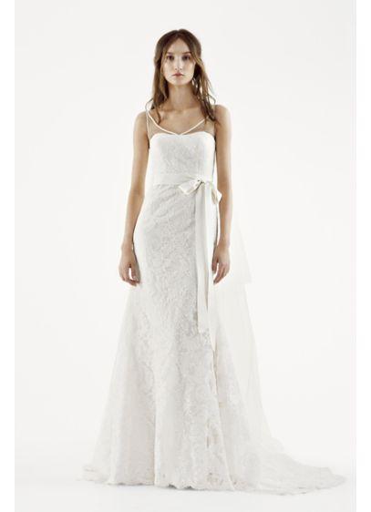 Long 0 Modern Chic Wedding Dress - White by Vera Wang