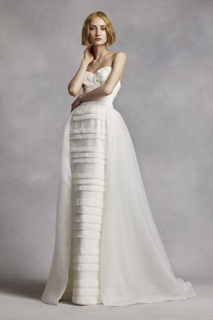 White by Vera Wang Beaded Lace Wedding Dress | David's Bridal