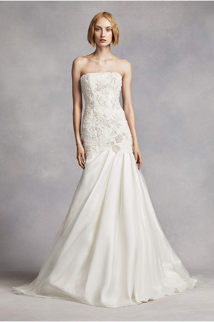 White by Vera Wang Lace Mermaid Wedding Dress - This strapless mermaid gown was made for the