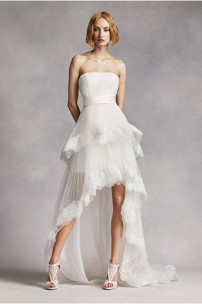 White by Vera Wang High Low Tiered Wedding - Be a trend setter in this elegantly crafted
