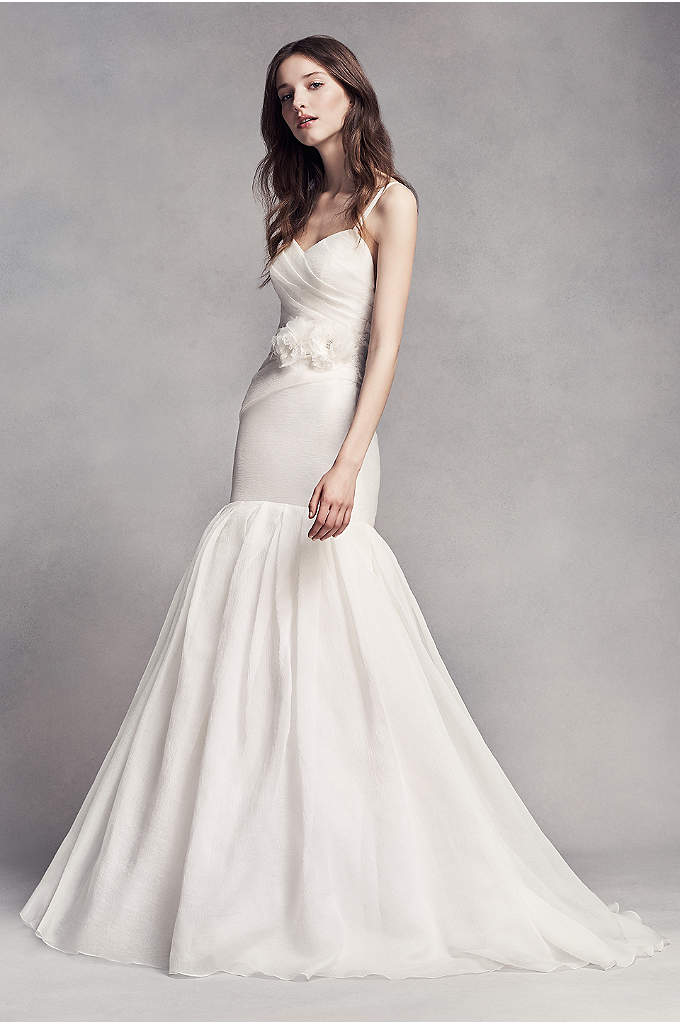 White by Vera Wang Organza Mermaid Wedding Dress - Simplistic yet stunning. This textured organza trumpet wedding