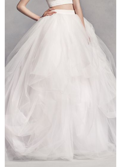 Long Separates Modern Chic Wedding Dress - White by Vera Wang