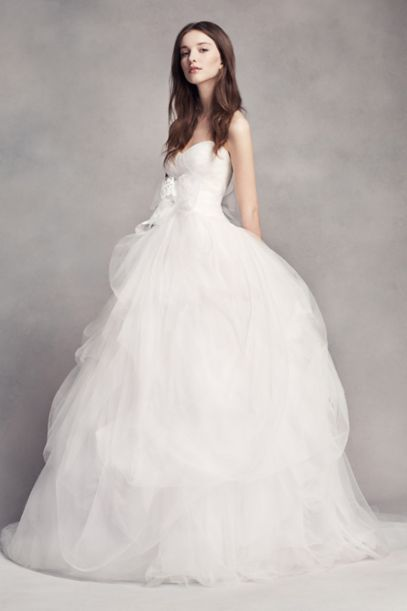 White By Vera Wang Hand Draped Tulle Wedding Dress David