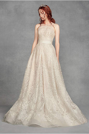 White by Vera Wang Macrame Lace Wedding Dress
