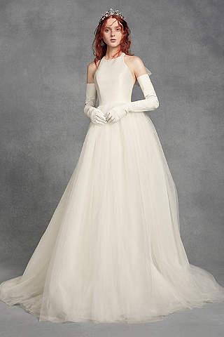 Vestido de Novia Halter de White by Vera Wang Con Moño Atrás