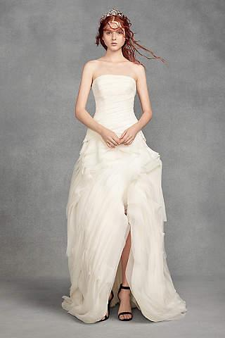 Vestido de Novia Asimétrico de Organza de White by Vera Wang