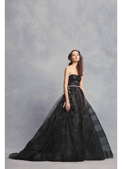 Long Ballgown Formal Wedding Dress - White by Vera Wang