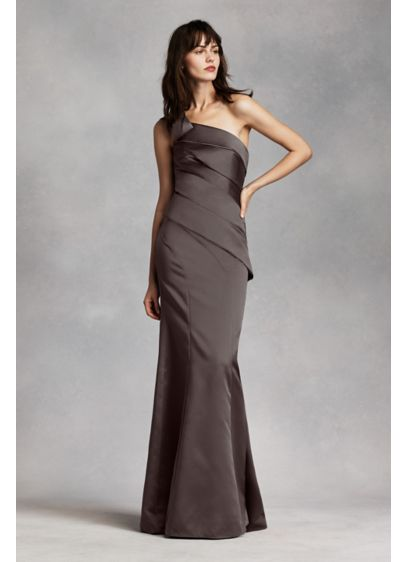 Long Ivory Structured White by Vera Wang Bridesmaid Dress