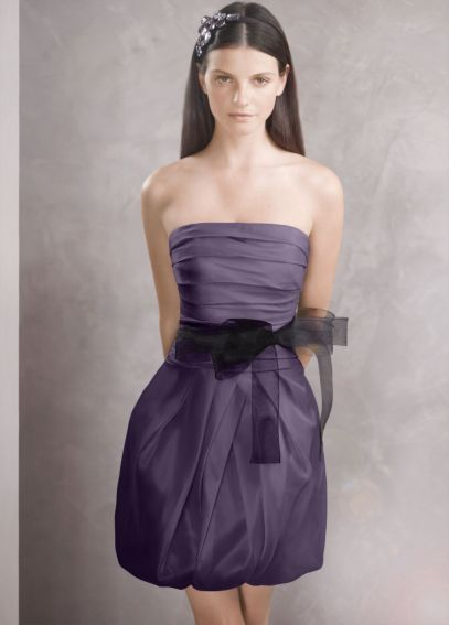 Organza Dress with Draped Bodice and Bubble Skirt VW360018