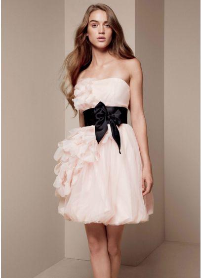 Short A-Line Modern Chic Wedding Dress - White by Vera Wang