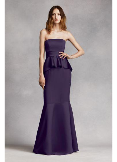 Long Blue Soft & Flowy White by Vera Wang Bridesmaid Dress