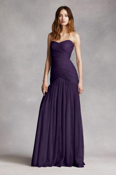 Strapless Bobbin Net Gown with Sweetheart Neckline | David's Bridal