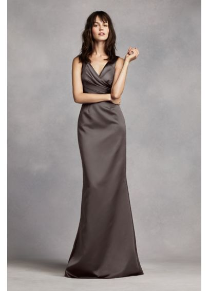White by Vera Wang Wrap Front Bridesmaid Dress VW360170
