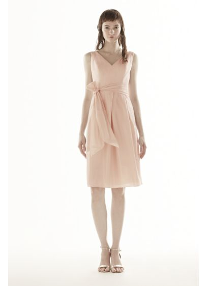 Short Ivory Soft & Flowy White by Vera Wang Bridesmaid Dress