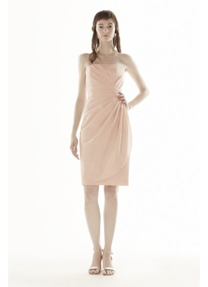 Short Ivory Soft & Flowy White by Vera Wang Bridesmaid Dress