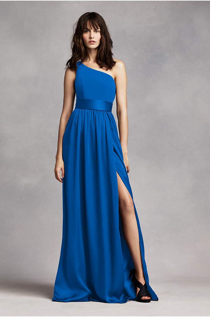 Long Chiffon Dress With Low Crisscross Back David S Bridal