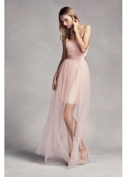 Bridesmaid Dress with Illusion Overskirt VW360295