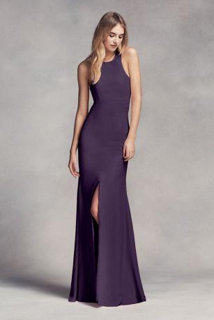 Evening dresses long back short front vests