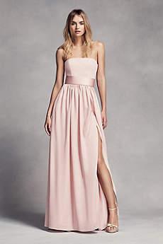 Long bridesmaid dresses blush pink