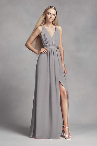 Quartz grey color dresses