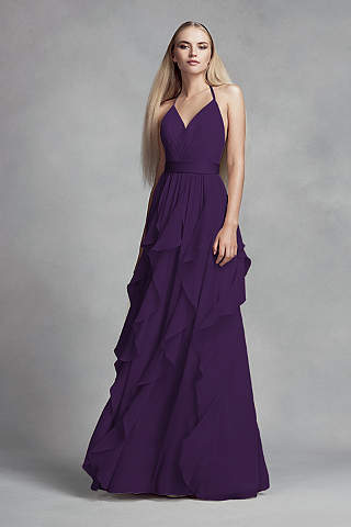 Does Purple And Brown Match Stunning Plum And Eggplant Dresses & Gowns  David's Bridal Design Inspiration