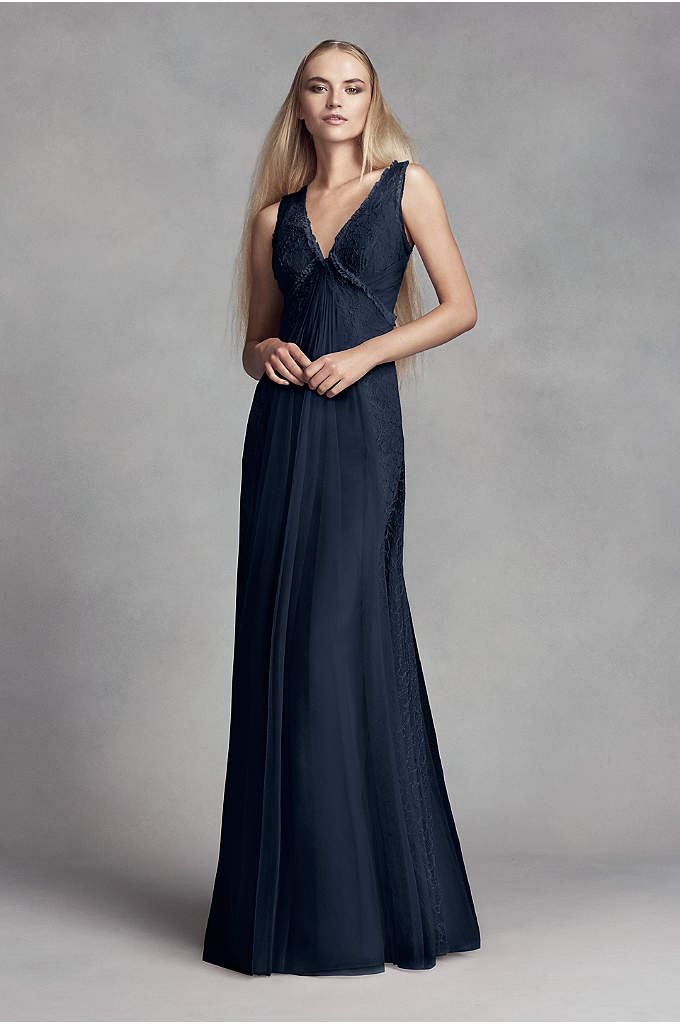 Chantilly Lace and Bobbin Net Bridesmaid Dress - Crafted of delicate Chantilly lace and light bobbin