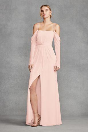 Long sleeved bridesmaid dresses