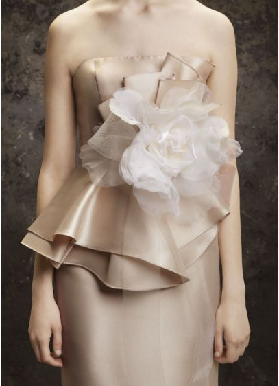 Horsehair Sash Accented with Large Flower - Wedding Accessories