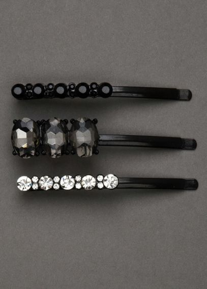 Set of 3 Jeweled Bobby Pins VW371484