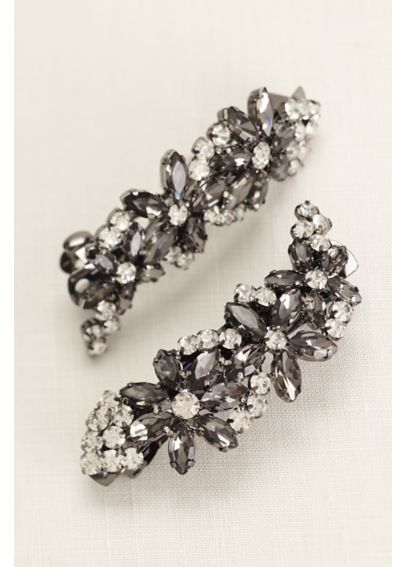 Set of Two Crystal Embellished Barrettes VW371485