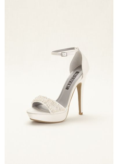 Ivory (White by Vera Wang Embellished Platform Sandals)