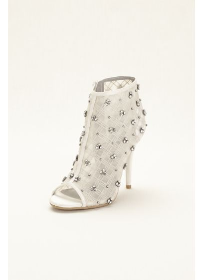 Ivory (Bootie Embellished with Crystal Clusters)
