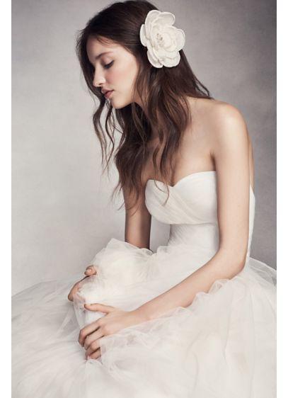 Rose Fabric Flower Clip - Wedding Accessories