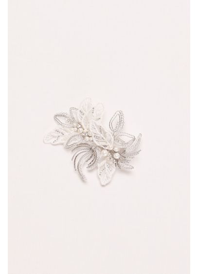 Pearl and Bead Botanical Comb - Wedding Accessories