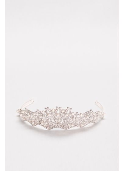 Pearl and Crystal Scallop Tiara - Wedding Accessories