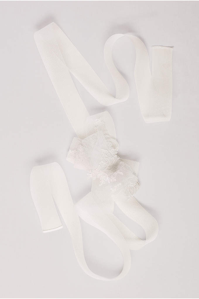 Horsehair Lace Sash with Bow - Add a sweet touch to your look by