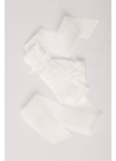 Oversized Horsehair Lace Sash - Wedding Accessories