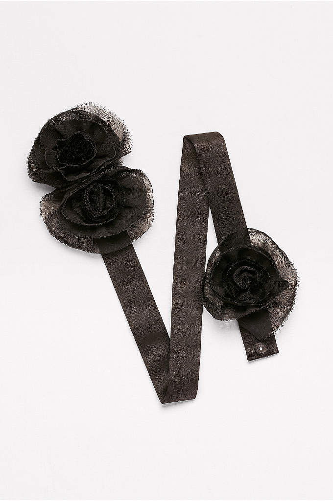 Chiffon Rosette Trio Sash - A beautiful finishing touch for any dress, wedding,