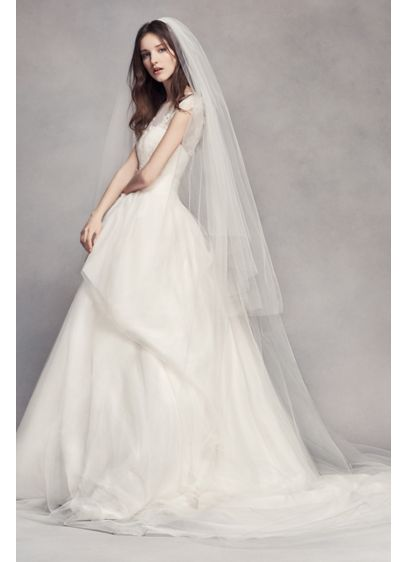 Two Tier Tulle Cathedral Veil - Wedding Accessories