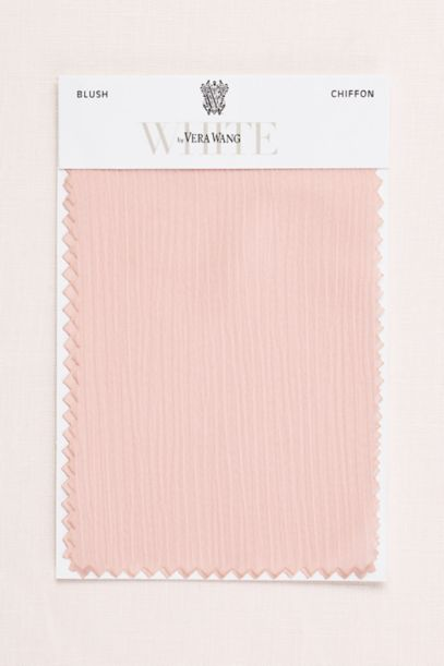 Blush Crinkle Chiffon Fabric Swatch | David's Bridal