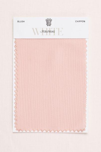 Blush Crinkle Chiffon Fabric Swatch David S Bridal