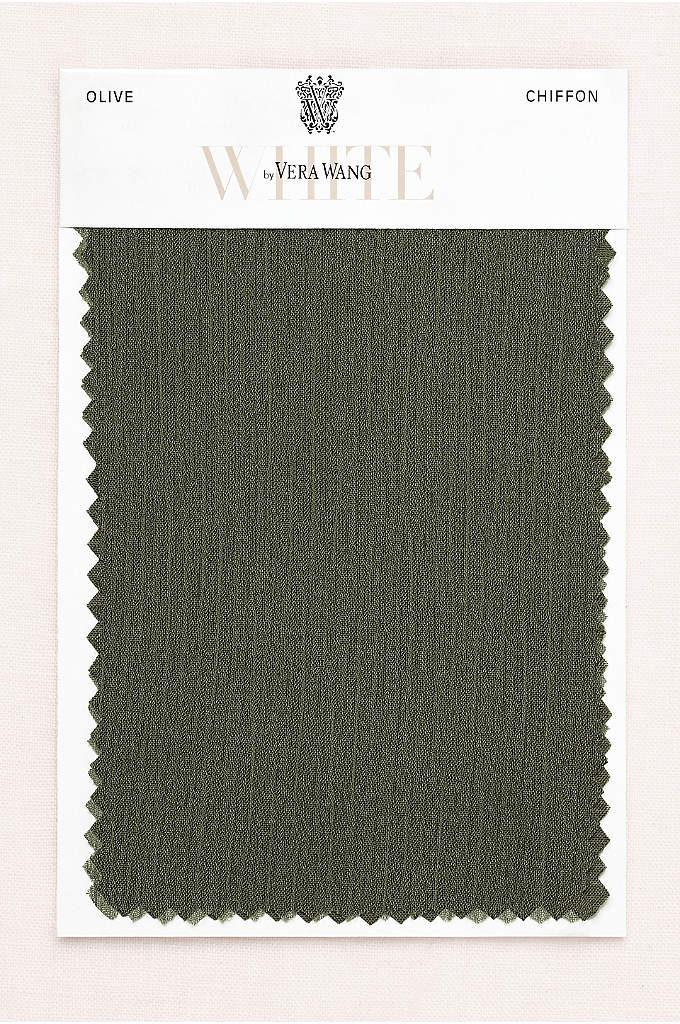 VW Olive Crinkle Chiffon Fabric Swatch - The slight texture on our lightweight crinkle chiffon