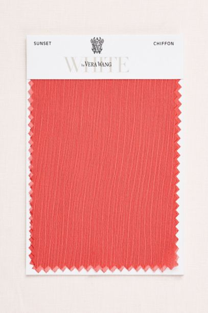 Sunset Crinkle Chiffon Fabric Swatch Davids Bridal
