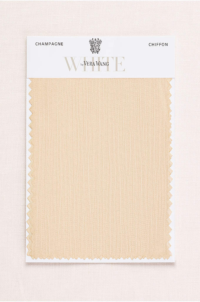 VW Champagne Crinkle Chiffon Fabric Swatch - The slight texture on our lightweight crinkle chiffon