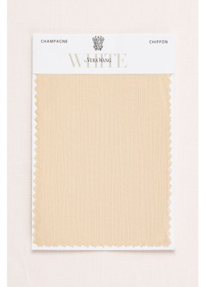 VW Champagne Crinkle Chiffon Fabric Swatch VWSWATCHVWCHAMPAGNE