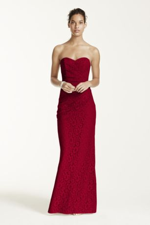 Long dress strapless