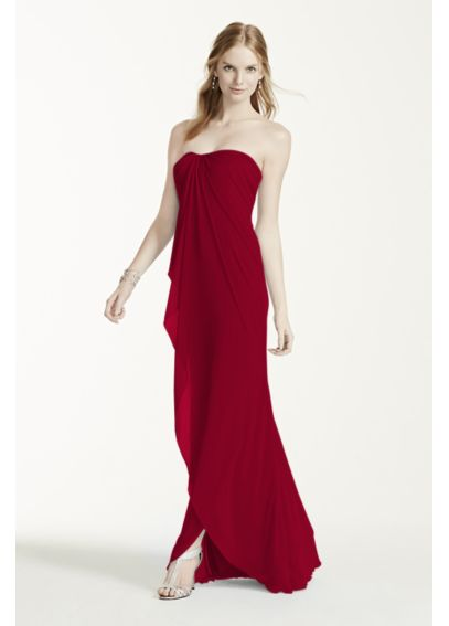 Long Strapless Mesh Dress W10484